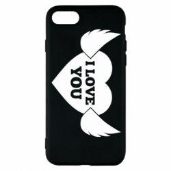 Чохол для iPhone 8 Heart with wings