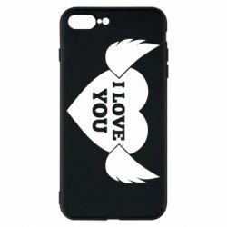 Чохол для iPhone 8 Plus Heart with wings