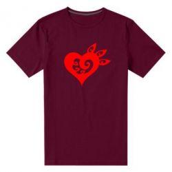 Купить 14 Февраля, Мужская стрейчевая футболка Heart, FatLine
