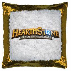 Подушка-хамелеон Hearthstone logotip