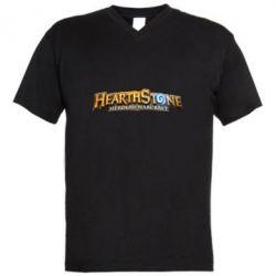 Чоловіча футболка з V-подібним вирізом Hearthstone logotip