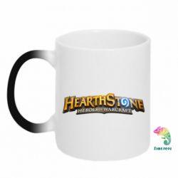 Кружка-хамелеон Hearthstone logotip