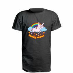 Подовжена футболка Heavy metal unicorn