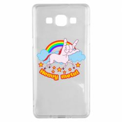 Чехол для Samsung A5 2015 Heavy metal unicorn