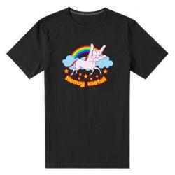 Чоловіча стрейчева футболка Heavy metal unicorn