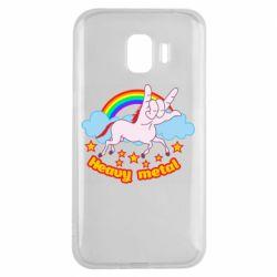 Чохол для Samsung J2 2018 Heavy metal unicorn