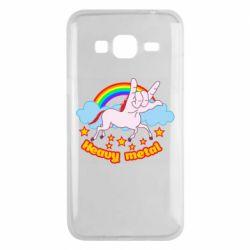 Чохол для Samsung J3 2016 Heavy metal unicorn