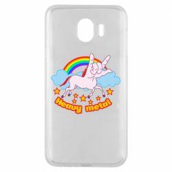 Чохол для Samsung J4 Heavy metal unicorn