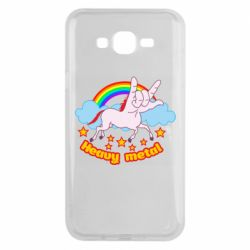 Чохол для Samsung J7 2015 Heavy metal unicorn