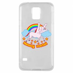 Чехол для Samsung S5 Heavy metal unicorn