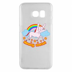 Чехол для Samsung S6 EDGE Heavy metal unicorn