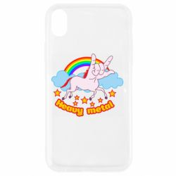 Чехол для iPhone XR Heavy metal unicorn