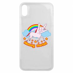 Чехол для iPhone Xs Max Heavy metal unicorn