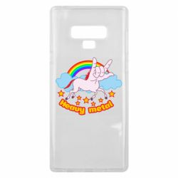 Чехол для Samsung Note 9 Heavy metal unicorn