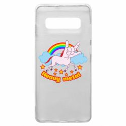Чехол для Samsung S10+ Heavy metal unicorn