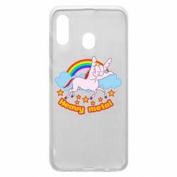 Чохол для Samsung A20 Heavy metal unicorn