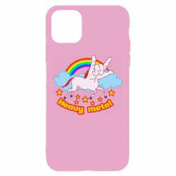 Чехол для iPhone 11 Heavy metal unicorn