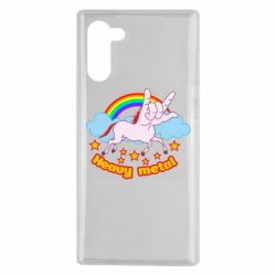 Чехол для Samsung Note 10 Heavy metal unicorn
