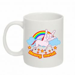 Кружка 320ml Heavy metal unicorn