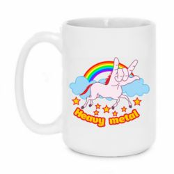 Кружка 420ml Heavy metal unicorn