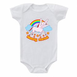 Дитячий бодік Heavy metal unicorn