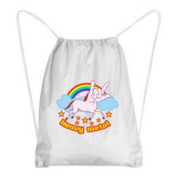 Рюкзак-мішок Heavy metal unicorn