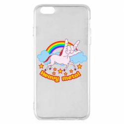 Чехол для iPhone 6 Plus/6S Plus Heavy metal unicorn