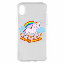 Чехол для iPhone X/Xs Heavy metal unicorn