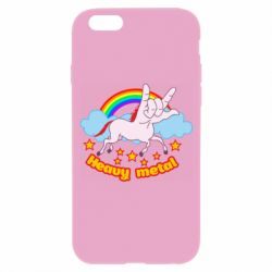 Чехол для iPhone 6/6S Heavy metal unicorn