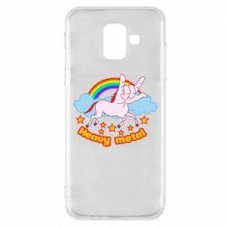 Чохол для Samsung A6 2018 Heavy metal unicorn