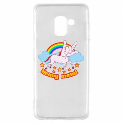 Чохол для Samsung A8 2018 Heavy metal unicorn