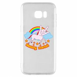 Чохол для Samsung S7 EDGE Heavy metal unicorn