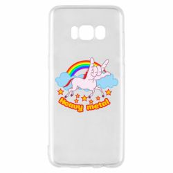 Чехол для Samsung S8 Heavy metal unicorn