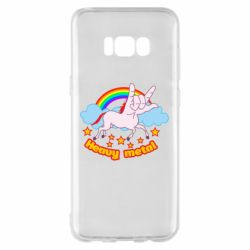 Чехол для Samsung S8+ Heavy metal unicorn