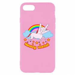 Чехол для iPhone 8 Heavy metal unicorn