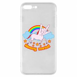 Чехол для iPhone 8 Plus Heavy metal unicorn