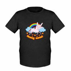Дитяча футболка Heavy metal unicorn