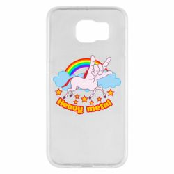 Чехол для Samsung S6 Heavy metal unicorn