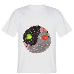 Чоловіча футболка Hedgehogs yin-yang