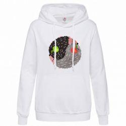 Толстовка жіноча Hedgehogs yin-yang