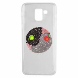 Чохол для Samsung J6 Hedgehogs yin-yang