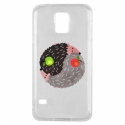 Чохол для Samsung S5 Hedgehogs yin-yang