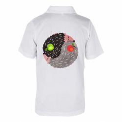 Дитяча футболка поло Hedgehogs yin-yang