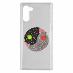 Чохол для Samsung Note 10 Hedgehogs yin-yang