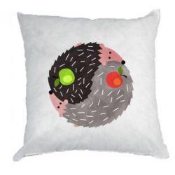 Подушка Hedgehogs yin-yang