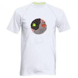 Чоловіча спортивна футболка Hedgehogs yin-yang