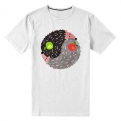 Чоловіча стрейчева футболка Hedgehogs yin-yang