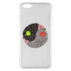 Чохол для iPhone 6 Plus/6S Plus Hedgehogs yin-yang - FatLine