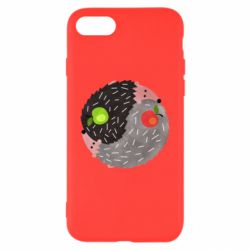 Чохол для iPhone 7 Hedgehogs yin-yang - FatLine