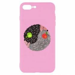 Чохол для iPhone 8 Plus Hedgehogs yin-yang - FatLine